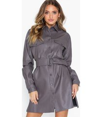 nly trend oversize pu dress loose fit dresses
