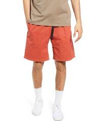 men's gramicci cotton shorts, size x-small - orange