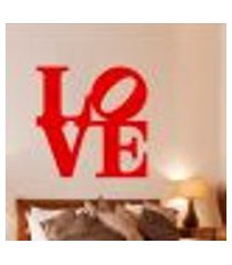 adesivo de parede cabeceira love 8 - especial