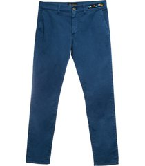 mr & mrs italy cotton twill straight pants for man