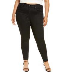 jag jeans valentina skinny jeans, size 22w in forever black at nordstrom
