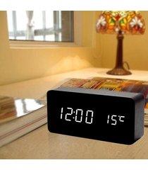 led relojes digitales sonidos de temperatura control-