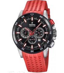 reloj chrono bike rojo festina