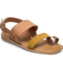 h y/amber gold leather/suede shoes summer shoes flat sandals beige toms