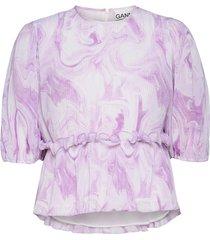 blouse blouses short-sleeved rosa ganni