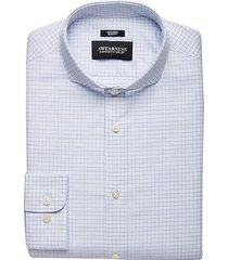 awearness kenneth cole men's blue check slim fit dress shirt - size: 15 34/35