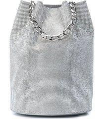 tyler ellis grace swarovski fine mesh pouch - silver