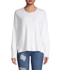 french connection women's della vhari pullover sweater - winter white - size m