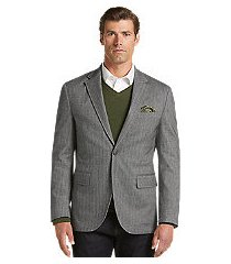 reserve collection traditional fit herringbone soft jacket - big & tall clearance
