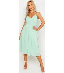 plus v neck skater midi dress, mint