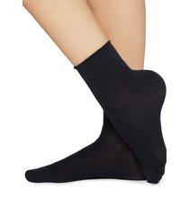 calzedonia light cotton socks with comfort cuff woman blue size 36-38