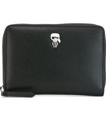 karl lagerfeld k/ikonik folding wallet - black