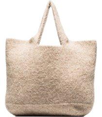 lauren manoogian large wool tote bag - neutrals