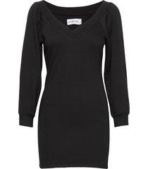 off shoulder sweater dress kort klänning svart ivyrevel