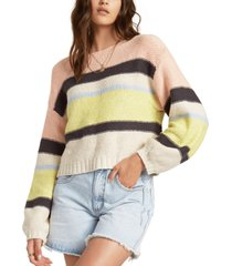 billabong juniors' seeing stripes cotton cropped sweater