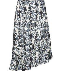 ellie skirt knälång kjol blå by malina