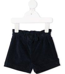 il gufo bermuda velvet shorts - blue