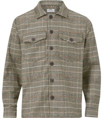 overshirt clipper big brown check ls shirt