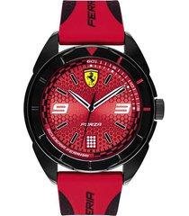 reloj ferrari modelo 830517 rojo hombre