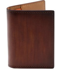 men's magnanni leather card case - brown