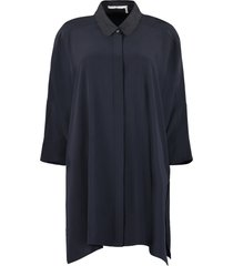 agnona silk shirt