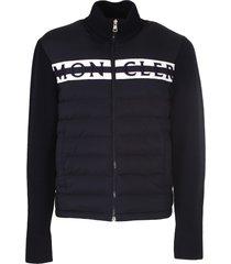 moncler padded cardigan. wool cardigan
