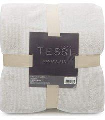 manta cationic blanket casal 1,80m x 2,20m 300g/m² - tessi -caqui