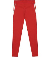 leggings rojo-blanco adidas performance ask sp 3s l t flores