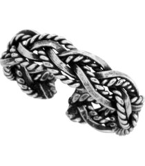 sterling silver braided adjustable toe ring