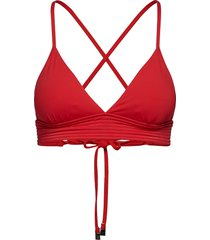 quilted fixed tri bikinitop rood seafolly