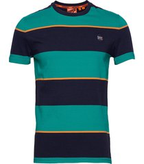 collective stripe tee t-shirts short-sleeved grön superdry