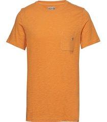 lily tee t-shirts short-sleeved orange morris