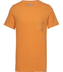 lily tee t-shirts short-sleeved orange morris