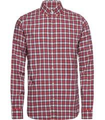 lived-in stretch poplin shirt skjorta casual röd gap
