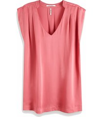 151153 pleated sleeveless top in viscose quality