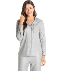 pijama abotoado longo em microsoft keila