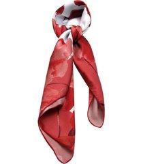 lenço smm acessorios floral vermelho