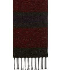 steve madden lurex striped muffler scarf