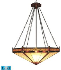 filigree 3-light pendant in aged bronze - led, 800 lumens (2400 lumens total) with full scale dimming range