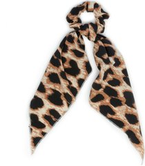 women's leopard print scarf pony light brown from sole society