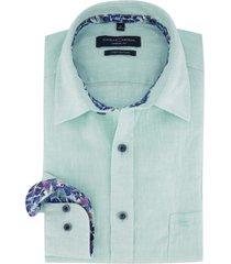 overhemd casa moda mintgroen linnen