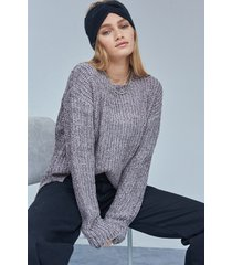 sweater gris 47 street calder lurex