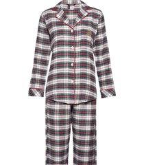 lrl notch collars pj set folded pyjama crème lauren ralph lauren homewear