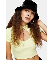 black lightweight vinyl hat - black