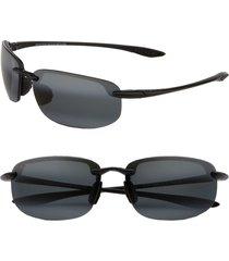 men's maui jim ho'okipa polarizedplus2 63mm rectangle sunglasses -