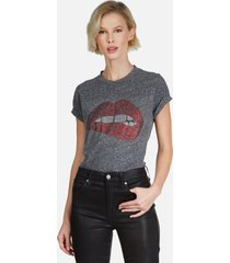 capri crystal biting lip - xl heather grey