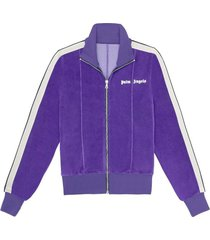 chenille fitted track jacket