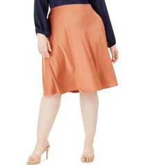 monteau trendy plus size satin midi skirt