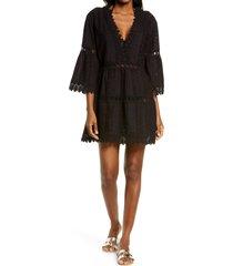 melissa odabash victoria cover-up dress, size medium in black at nordstrom