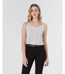camisa cropped a rayas
